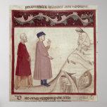 Dante y Virgil resuelven las almas encarceladas Póster