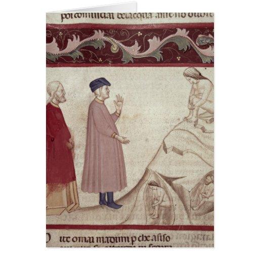 Dante y Virgil resuelven las almas encarceladas Tarjeta De Felicitación