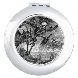 Dantes Death in the sky compact mirror