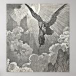 Dante's Divine Comedy Illustration Eagle Engraving Poster