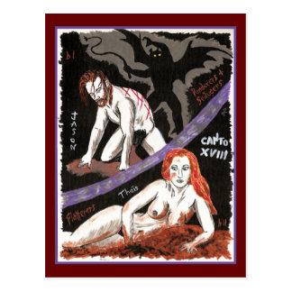 Dante's Inferno, Canto XVIII Postcard