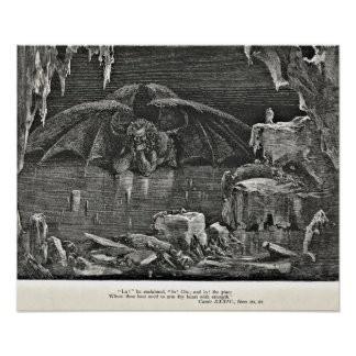 Dante's Inferno Devil in Hell Illustration Poster