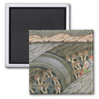 Dante's Inferno with a commentary 2 Inch Square Magnet