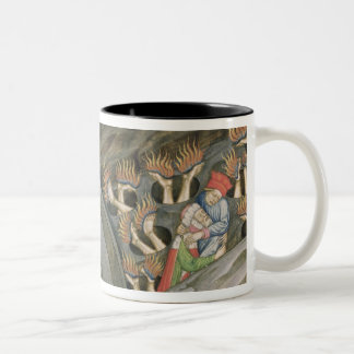 Dante's Inferno with a commentary Two-Tone Coffee Mug