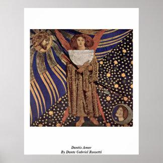 Dantis Amor de Dante Gabriel Rossetti Poster
