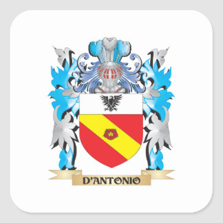 D'Antonio Coat of Arms - Family Crest Square Sticker