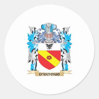 D'Antonio Coat of Arms - Family Crest Round Stickers