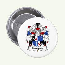 Dantyszek Family Crest Button