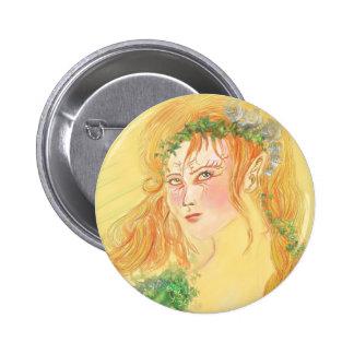Danu - Goddess off Spring Button