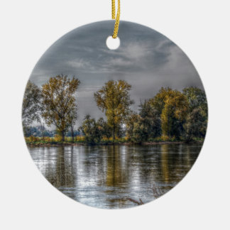 Danube at Straubing/Bavaria Ceramic Ornament