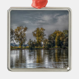 Danube at Straubing/Bavaria Metal Ornament