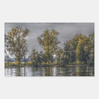 Danube at Straubing/Bavaria Rectangular Sticker