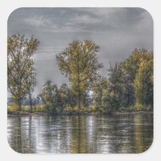 Danube at Straubing/Bavaria Square Sticker