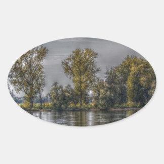 Danube at Straubing/Bavaria Sticker