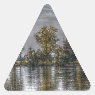 Danube at Straubing/Bavaria Triangle Stickers