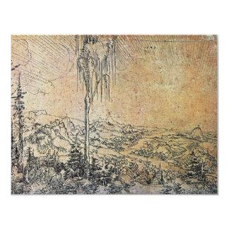 Danube Landscape Near Krems By Huber Wolf 4.25x5.5 Paper Invitation Card