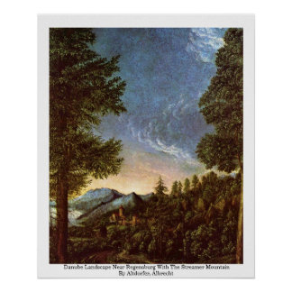 Danube Landscape Near Regensburg Poster