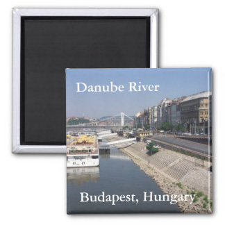 Danube River, Budapest, Hungary 2 Inch Square Magnet