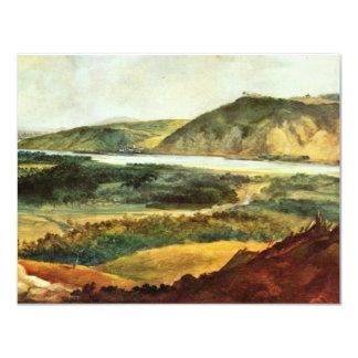 Danube Valley Near Vienna By Brand Johann Christia 4.25x5.5 Paper Invitation Card