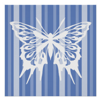 Danube Victorian Lady Stripe with Butterfly Print