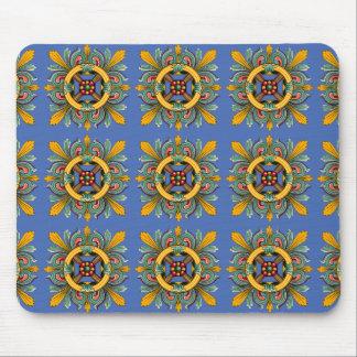 Danube Victorian Tile Design Mouse Pad