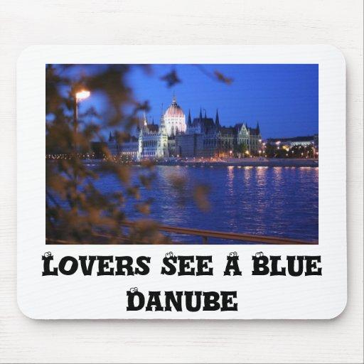 Danubio azul, amantes ve un Danubio azul Tapete De Raton