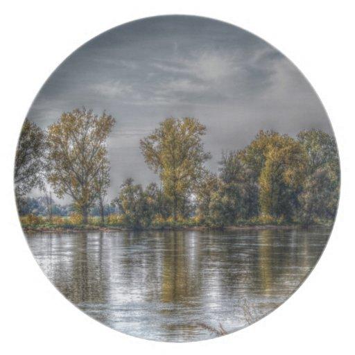Danubio en Straubing/Baviera Platos De Comidas