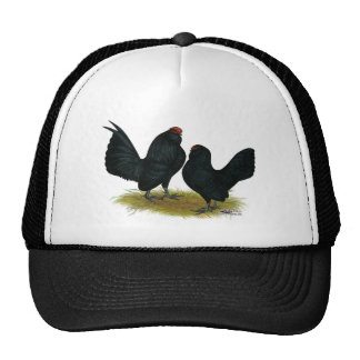 D'Anvers Black Bantams Mesh Hats