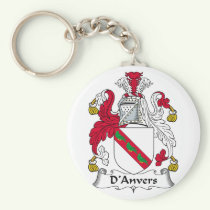 D'Anvers Family Crest Keychain