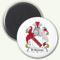 D'Anvers Family Crest Magnet