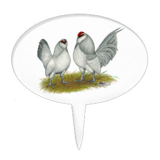 D'Anvers Self Blue Bantams Cake Topper