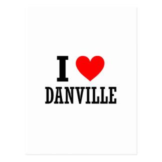 Danville, Alabama City Design Postcard