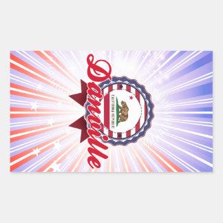 Danville CA Rectangular Stickers