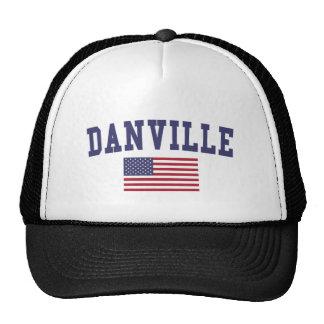 Danville CA US Flag Trucker Hat