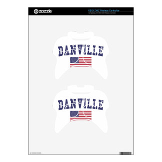 Danville CA US Flag Xbox 360 Controller Skins