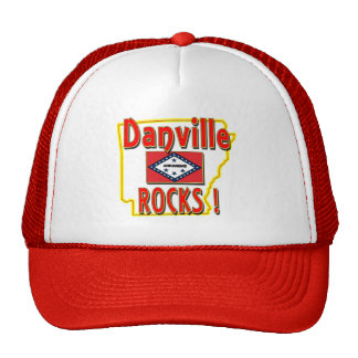 Danville Rocks ! (red) Trucker Hat