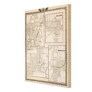 Danville, Shelbyville, Atlanta and Monticello Canvas Print