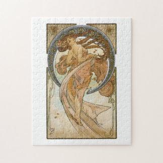 Danza (1898), bella arte Nouveau de Alfonso Mucha Puzzles Con Fotos