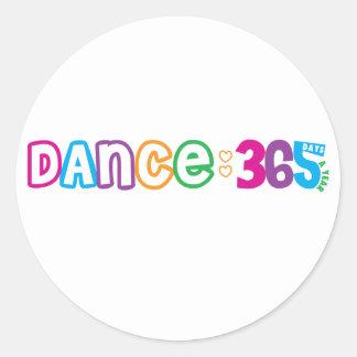 Danza 365 pegatina redonda