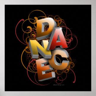 danza 3D caída Impresiones