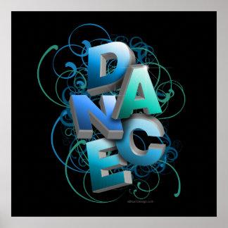 danza 3D primavera Poster