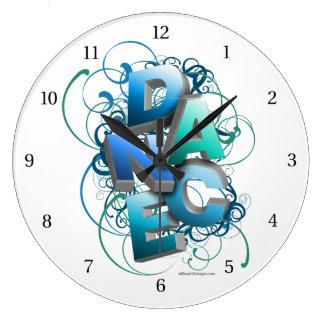 danza 3D (primavera) Reloj Redondo Grande