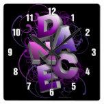 danza 3D (verano) Reloj De Pared