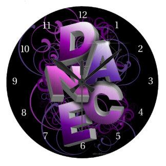 danza 3D (verano) Reloj Redondo Grande
