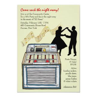 Danza a la invitación del fiesta de la música invitación 12,7 x 17,8 cm