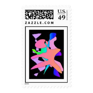 Danza abstracta sellos postales
