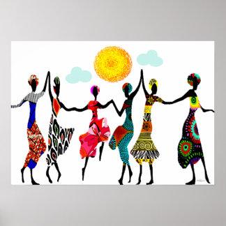 Danza africana de la alabanza póster