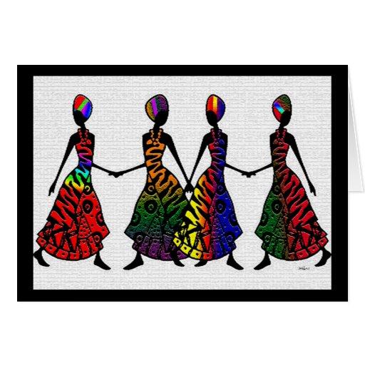 Danza africana de la hermandad felicitaciones