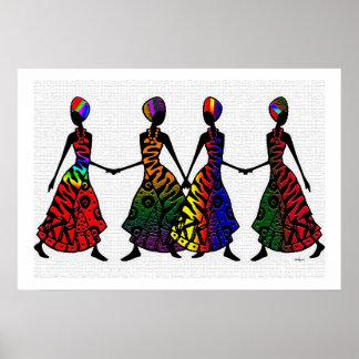 Danza africana de la hermandad posters
