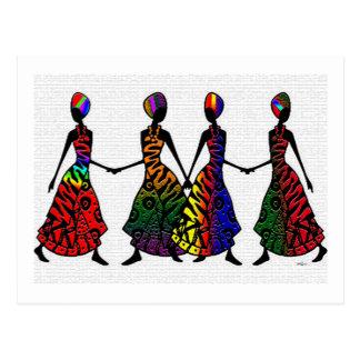 Danza africana de la hermandad tarjeta postal